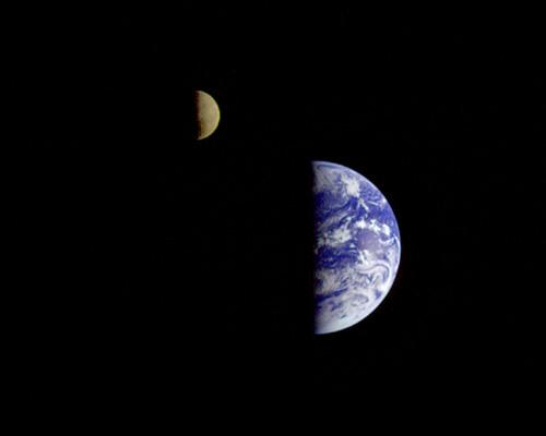 Earth and Moon-Image courtesy NASA