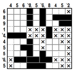 Single Clue Cross-a-Pix(B)