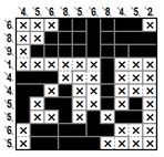 Single Clue Cross-a-Pix(C)